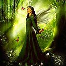 """Emeraldia"" Angel of the forest deep. by Melanie Froud"