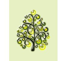 Green Glass Ornaments Photographic Print