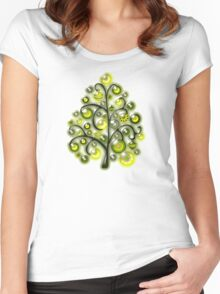 Green Glass Ornaments Women's Fitted Scoop T-Shirt
