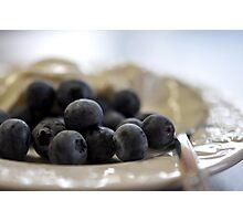 Blueberries & Yoghurt Photographic Print