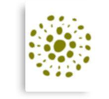 Greenish white spore Canvas Print