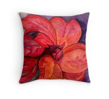 The Flower of the Holy Night *  Poinsettia Throw Pillow