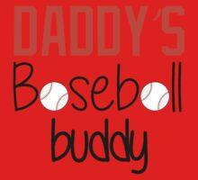 Daddy's Baseball Buddy (Orange) One Piece - Short Sleeve
