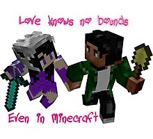 Love Knows No Bounds...Even In Minecraft Photographic Print