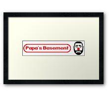 Papa's Basement Entertainment Podcast Framed Print