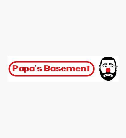 Papa's Basement Entertainment Podcast Photographic Print