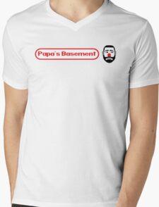 Papa's Basement Entertainment Podcast Mens V-Neck T-Shirt