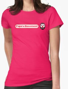 Papa's Basement Entertainment Podcast Womens Fitted T-Shirt