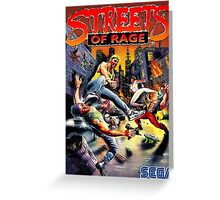 streets of rage 90s Greeting Card
