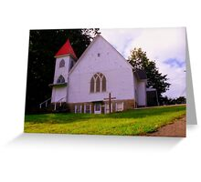 Red Cap And Tower  Greeting Card