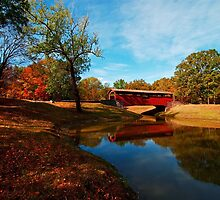 Covered Bridge at Burns Park by Lisa G. Putman