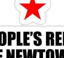 People's Republic of Newtown (Black) Sticker
