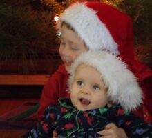 My boys celebrating christmas by Jessica Hooper
