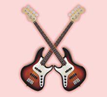 Double fender jazz bass Kids Clothes
