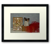 Merry Christmas Lily Framed Print
