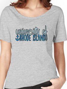 University of Rhode Island - 2tone Women's Relaxed Fit T-Shirt