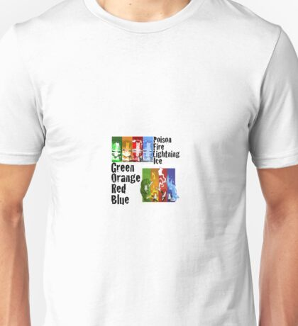 Your 4 favorite characters  Unisex T-Shirt