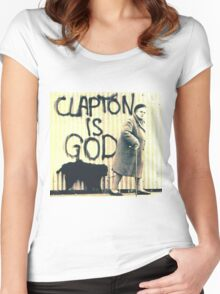 Clapton is God Women's Fitted Scoop T-Shirt