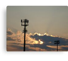 Sunset Over the Baseball Diamond Canvas Print