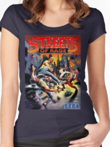 streets of rage 90s Women's Fitted Scoop T-Shirt