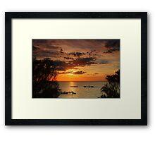 Sunset at Half Moon Bay Framed Print