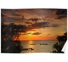 Sunset at Half Moon Bay Poster