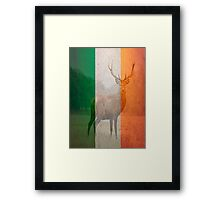 Irish red deer double exposure Framed Print