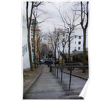 Steps at Montemartre Poster