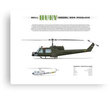 Bell Huey Helicopter (UH-1C gunship) Canvas Print