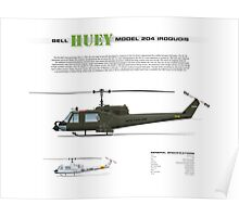 Bell Huey Helicopter (UH-1C gunship) Poster