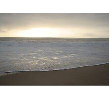 Reflective Sunrise Waves Photographic Print