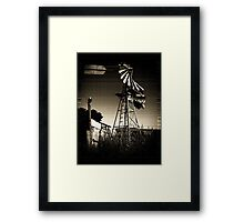 Blown WindMill Framed Print