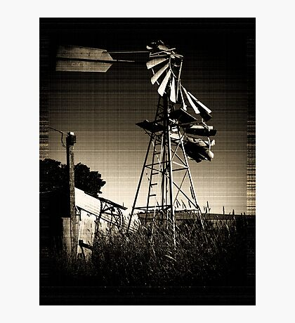 Blown WindMill Photographic Print