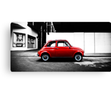 Little Red Car - Fiat Bambino Canvas Print