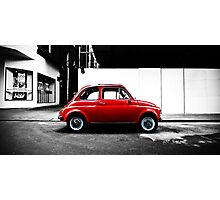 Little Red Car - Fiat Bambino Photographic Print