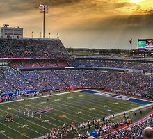 Ralph Wilson Stadium at Dusk by tigerwings