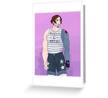 Muscles and Mascara Greeting Card