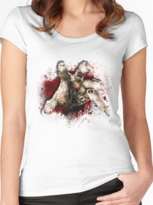 Zombie hand Women's Fitted Scoop T-Shirt