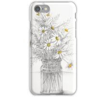 A country hedge bouquet - daisies and grasses iPhone Case/Skin