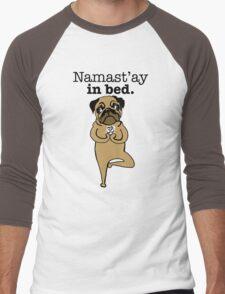 yoga pug Men's Baseball ¾ T-Shirt