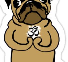 yoga pug Sticker