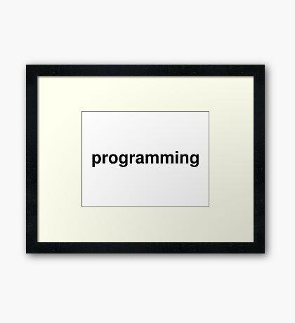 programming Framed Print
