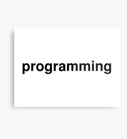 programming Metal Print
