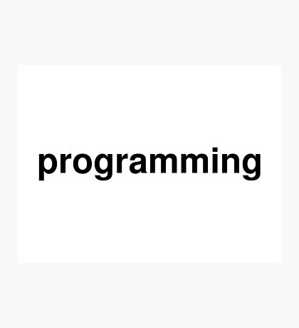 programming Photographic Print
