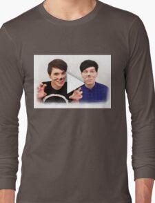 Dan & Phil   YouTube Play Button Long Sleeve T-Shirt