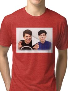 Dan & Phil | YouTube Play Button Tri-blend T-Shirt