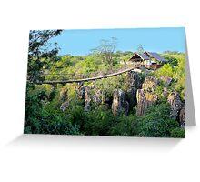 Suspension bridge at Rolfs place, near Masai Logde, Nairobi Greeting Card