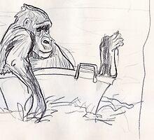 Gorilla Bath Time #2 by WoolleyWorld
