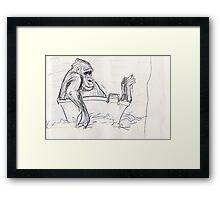 Gorilla Bath Time #2 Framed Print