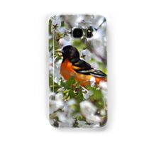 Baltimore oriole in cherry tree Samsung Galaxy Case/Skin